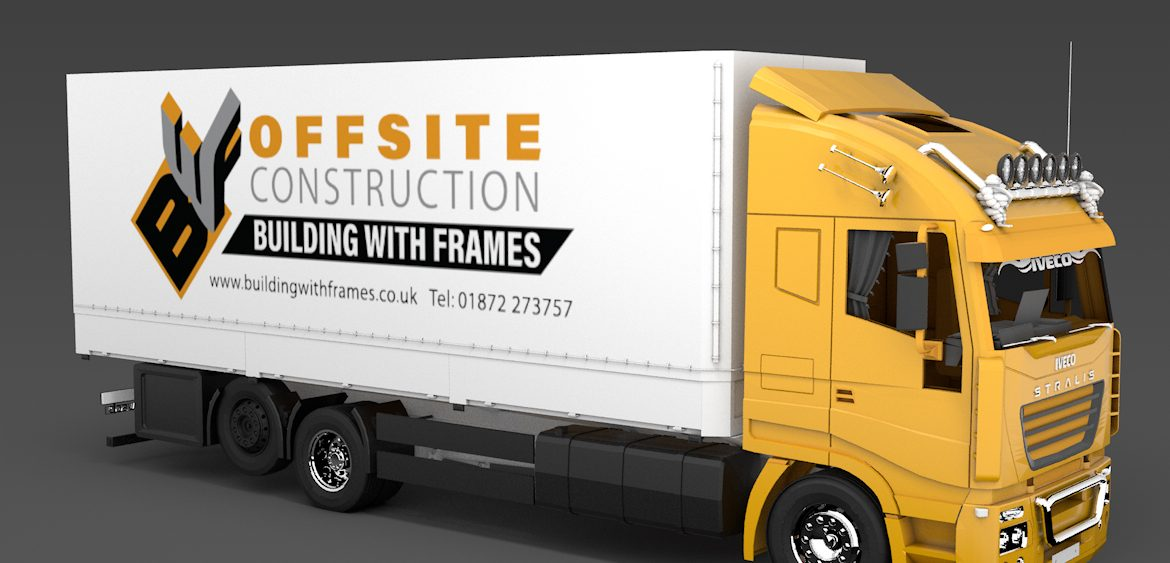 Building with Frames 3D visual of truck by Studio Mitchell
