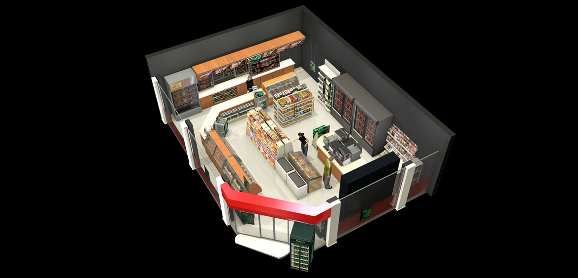 Overview of store for Carlsberg POS by Studio Mitchell