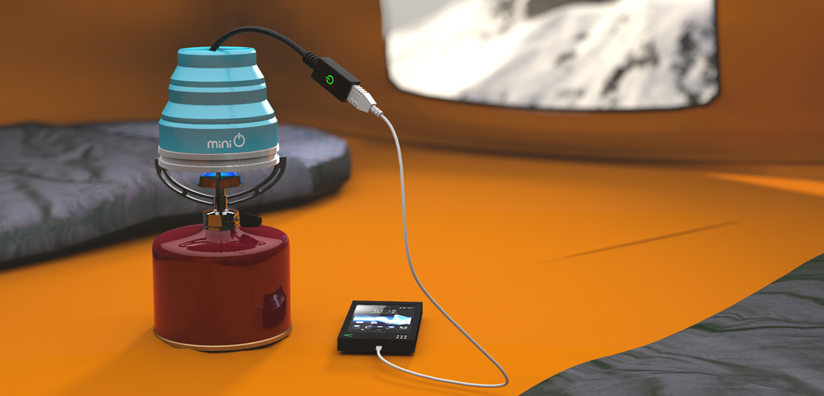 3d visual of Oasis phone charger by Studio Mitchell