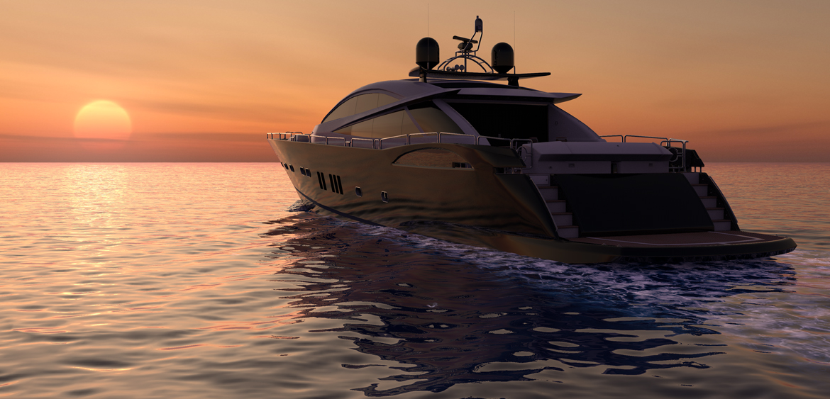 3d yacht visual by Studio Mitchell