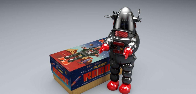 Toy robot 3D illustration by Studio Mitchell