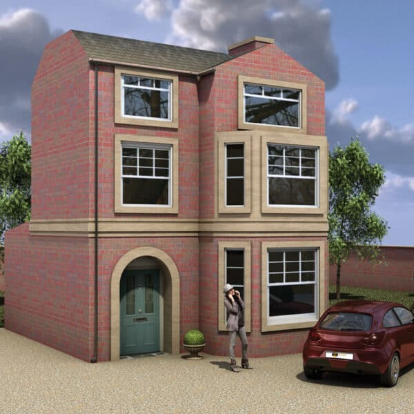 3D architectural visualisation of a residential house