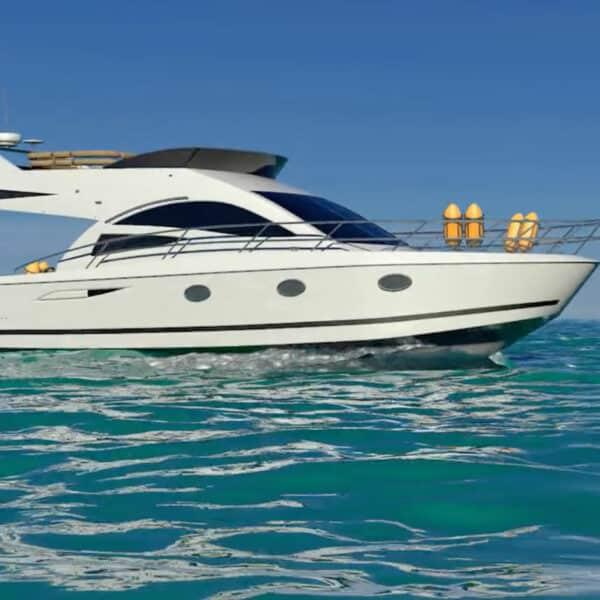 3D animation Sport Yacht